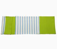 Schal aus Baumwolljersey grün und hellblau/weiß gestreift