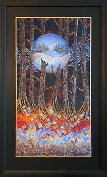 Oljemaleri med tittelen «Eventyrreise» (67x108cm)
