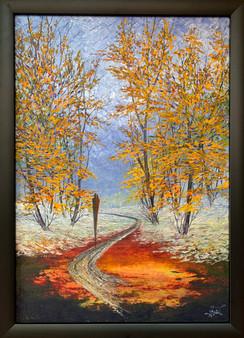Oljemaleri med tittelen «Veien til Håpet» (66x92cm)