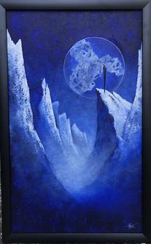 Oljemaleri med tittelen «Universet roper» (67x107cm)