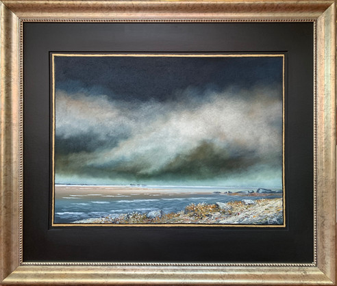 Oljemaleri med tittelen «Havets Paradis» (106x91cm)