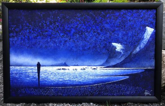 Oljemaleri med tittelen «Blå Romantikk» (107x67cm)