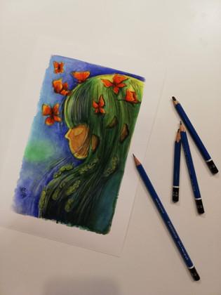 La bambina dai capelli verdi