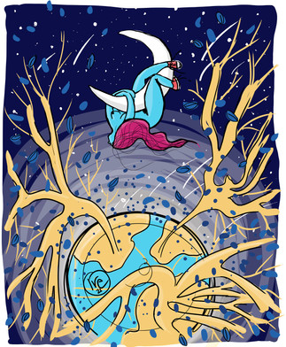 Aggrappata alla luna