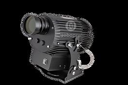GoboPro GBP-40004 мощностью 400 Вт - самый мощный гобо проектор из всех представленных моделей.  Специально разработанная высокоэффективная оптика в сочетании с надежным светодиодом OSRAM 400 Вт обеспечивают отличное качество проекции как на улице, так и на полу внутри помещений на расстоянии от 10 до 250 метров.  Исключительная особенность этого гобо проектора состоит в его способности проецировать изображения огромных площадей. Подобное решение находит свое отражение в наружной световой рекламе на зданиях, иллюминации города, световом оформлении улиц и домов. Пример использования гобо проектора GoboPro GBP-400 для подсветки дома вы можете посмотреть здесь. Благодаря алюминиевому влагозащищенному корпусу по стандарту IP65 и активному охлаждению светодиода с помощью промышленного вентилятора данный гобо проектор можно использовать в любых климатических и производственных условиях. Таким образом, этот мощнейший проектор можно применять в следующих случаях: •В качестве рекламного проектора и световой навигации внутри помещений, например, торговых комплексов, бизнес-центрах, ресторанах, гостиницах и т.д. •В качестве уличного проектора для световой наружной рекламы •В качестве промышленного проектора для освещения опасных зон и световой разметки склада •Для декоративного освещения улиц и архитектурной подсветки зданий  Проекционные изображения печатаются на специальных закаленных стеклах и легко устанавливаются внутрь проектора. Возможна полноценная цветная (фото) печать.