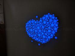 Сердце из снежинок