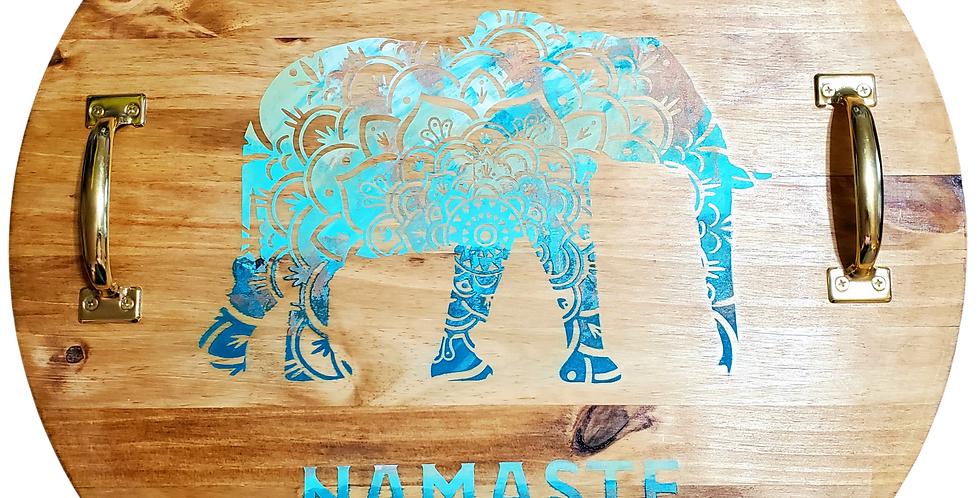 Namaste! Extra Large Wooden Tray