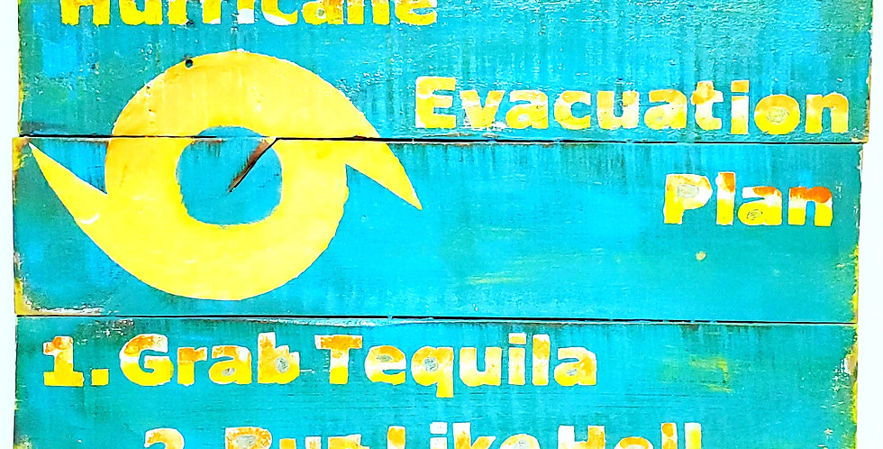 Hurricane Evacuation Plan Pallet Sign