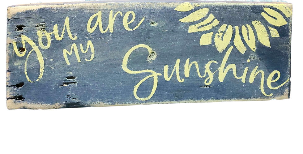 Sunshine Rustic Wood Sign