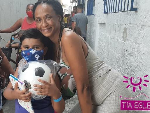 Santos Futebol Clube e Projeto Tia Egle