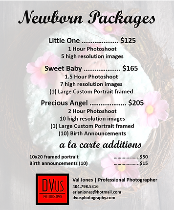 DVus Photography Pricing