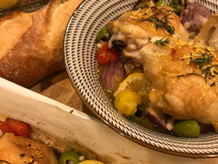 Lemon & Sicilian Olive Baked Chicken with Pearl Couscous
