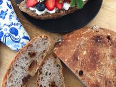 No-Knead Bread: Walnut, Fig & Sage