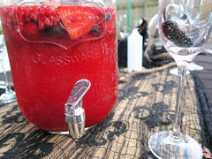 Blood orange, pomegranate & mixed berry gin punch
