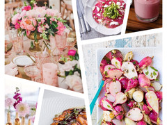 Dinner Party Inspiration - Pink Ribbon Fare