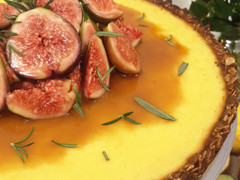 Lemon & Rosemary ANZAC Tart
