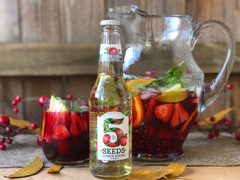 Christmas Sangria with 5 Seeds Cider
