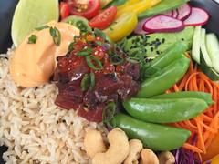 Rainbow Salad with Japanese Tuna Poke and Sriracha Mayonnaise