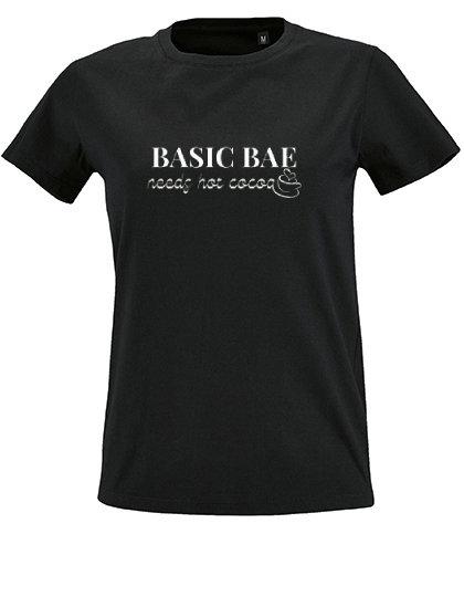 Basic Bae needs cocoa t-shirt. Dames