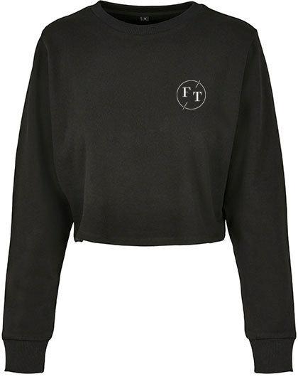 Cropped Sweater met Borstlogo