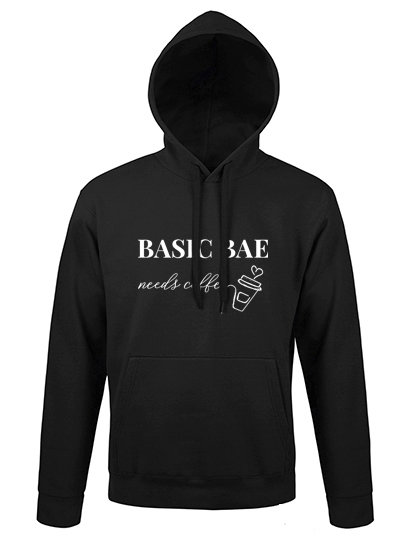 Hoodie 'Basic Bae needs coffee'