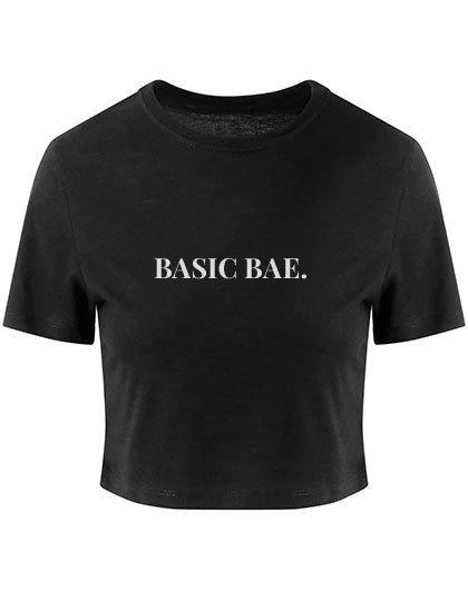 Cropped tee 'BASIC BAE.'