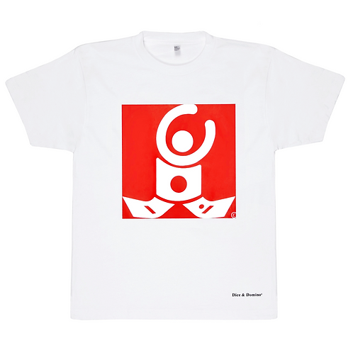 T-Shirt / White / White logo on red