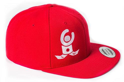 Snap back Cap Red / White Flat Logo