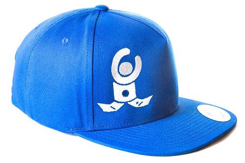 Snapback Cap Blue / White Flat Logo