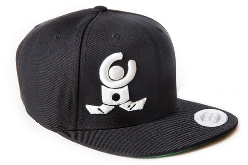 Snapback Cap Black / White 3D Logo / Limited Edition