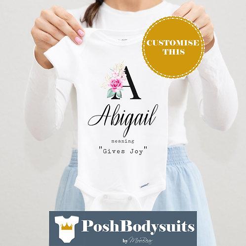 Custom Name & Meaning Bodysuit