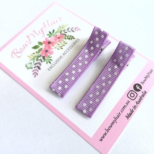Purple Pattern Clips