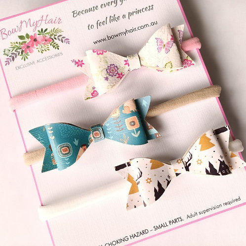 Beautiful Faux Leather Bows