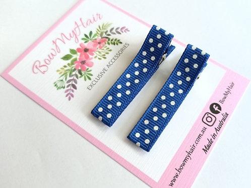 Blue Polka Dot Pattern Clips