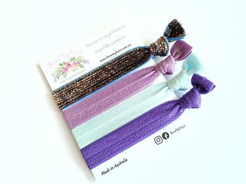 Hair Ties - Glitter Purple