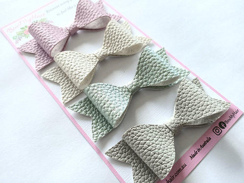 Magnificent Pastel leather bows selection