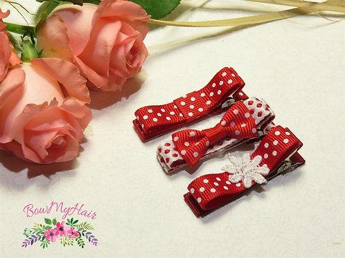 Red Ribbon Clips Variety Bundle