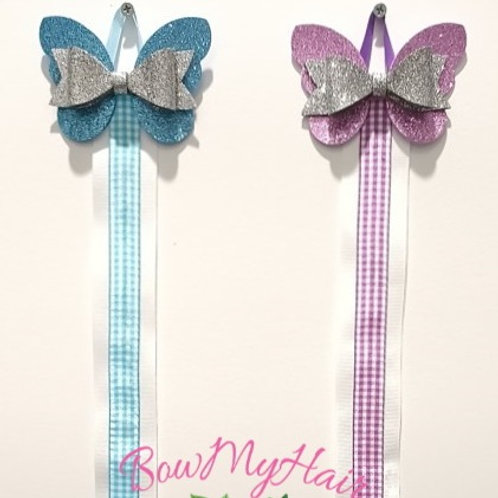 Beautiful Butterfly & Hearts Hair Bow Holder