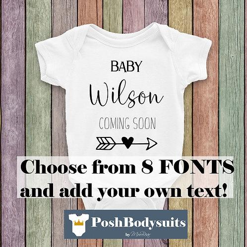 Personalised Pregnancy Announcement Bodysuit