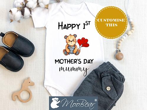 Happy 1st Mother's Day Bodysuit