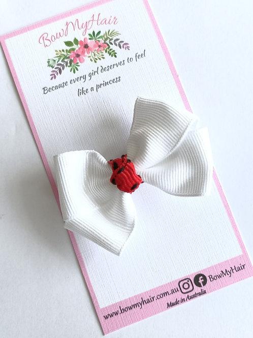 Crisp White Mini-Bow