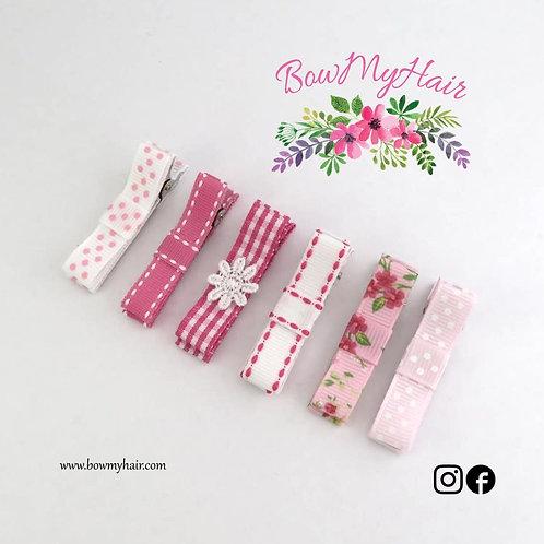 Exquisite Pink Hair Clips Bundle