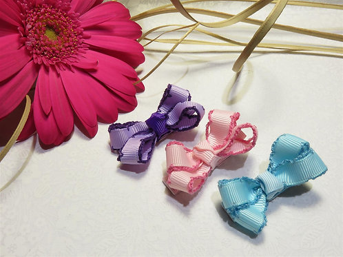 Mini Bow Clips - Variety Pack with 3 clips