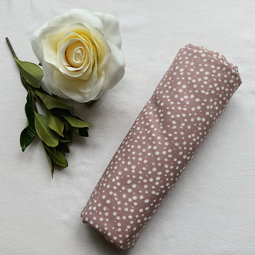 Snuggly Soft Double-layer Muslin Dusty Pink Polka Dot Print Swaddle Blanket