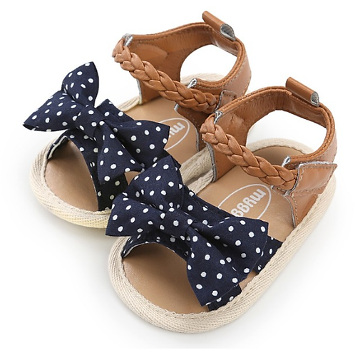 Polka Dot Bow Soft Sole Baby & Toddler Sandals