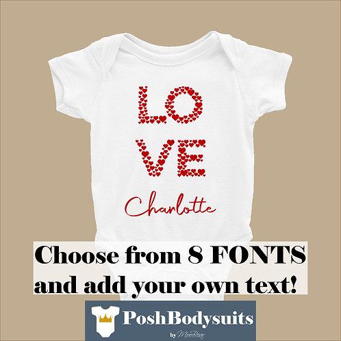 Custom Love Personalised Bodysuit
