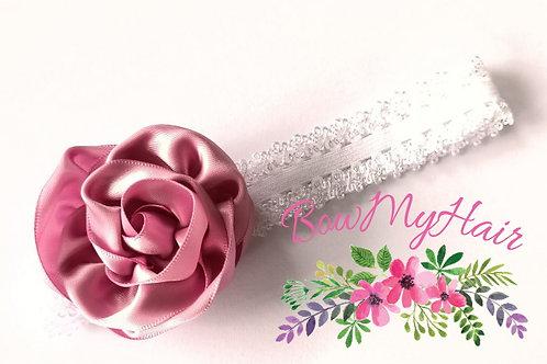Satin Floral Headband