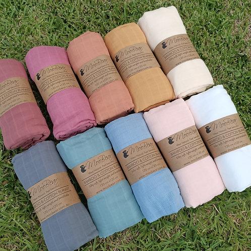 Luxuriously Soft Premium Extra Large Bamboo Cotton Swaddle Blankets