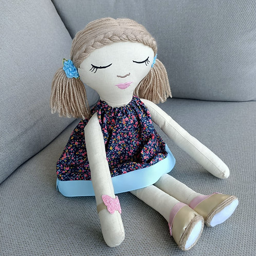 Olivia - Handmade Cloth Doll
