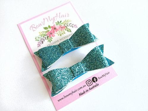 Brilliant Blue Glitter Hair Clip